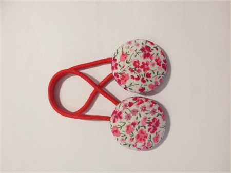 Liberty fabric button hairties